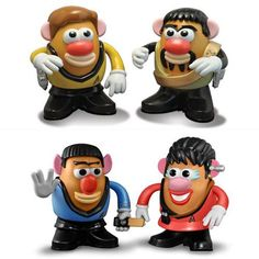 Star Trek Mr. Potato heads and other gifts for the Trekkie in you.