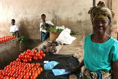 Market stalls - selling anything and everything from prepared food, clothes and vegetables - are very popular businesses for microcredit clients