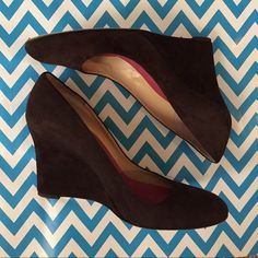 """Flash Sale Kate Spade Suede Wedge Heels HP 10/28 classic and timeless dark brown suede wedge heels from Kate Spade... 3.5"""" heel. Very good pre-loved condition - see photos for any wear signs. ** just lowered - price is firm*** kate spade Shoes Heels"""