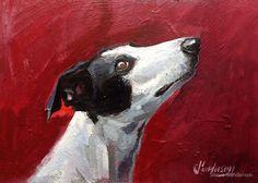 Greyhound study by Steve Sanderson