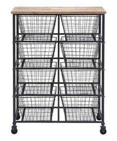Look what I found on #zulily! Eight-Basket Storage Cart by  #zulilyfinds
