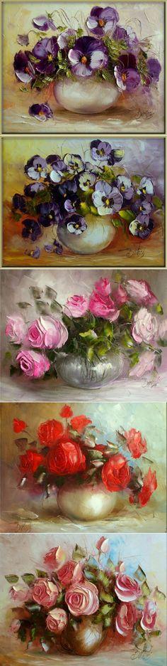 Фиалка скромна и невинна... а роза прекрасна своей красотой...' Ewa Bartosik | искусство | Постила