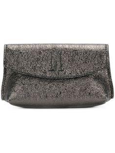 GOLDEN GOOSE Flap Pochette clutch. #goldengoose #bags #leather #clutch #metallic #hand bags #