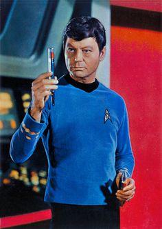 "Vintage publicity photo of DeForest Kelley as Dr. Leonard ""Bones"" McCoy from Star Trek"