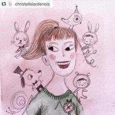Good morning everyone!  How is everybody doing? I am totally excited because: look at the drawing that @christellelardenois did of me. Waaaah! So sweet of her and I had to share this with you. That is actually the first time ever that someone draws me  Thanks so much my dear  - - - - - - Today I am on my way to the first dentist appointment for the kids. OMG! Just checking but still... wish me luck (and the dentist too ). by byjohannafritz