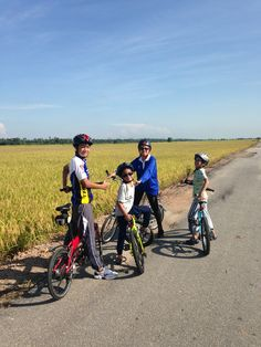 Cycling among paddy fields in Sekinchan