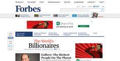 Forbes Top Ten Billionaire's list of 2012