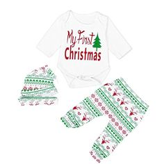 XILALU Christmas Infant Baby Boy Girl Outfits Romper Pantshatheadband Clothes set 36M White >>> See this great product.Note:It is affiliate link to Amazon.