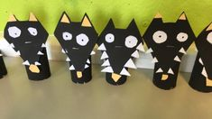 Summer Crafts, Diy Crafts For Kids, Arts And Crafts, Farm Animal Crafts, Animal Projects, Animal Activities, Activities For Kids, Wolf Kids, Toilet Paper Roll Crafts