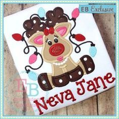 Oh deer!  She's so cute! Comes in sizes for the 4x4, 5x7, and 9x9 hoops.  Font NOT included; however, shown with our Fiddle Sticks Alphabet. Zip folder includes formats: ART, DST, EXP, HUS, JEF, PES, SEW, VIP, VP3, XXX