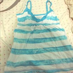 Tank top by Arizona jeans  blue and white stripes Small size worn three times Arizona Jean Company Tops Tank Tops