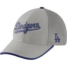 buy online 703d1 e770a Los Angeles Dodgers Dri-FIT Fabric Mix Swoosh Flex Stretch Fit Cap by Nike