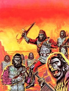 Planet of the Apes Pierre Boulle, Plant Of The Apes, Pop Art Images, 8 Bits, Sci Fi Comics, Science Fiction Art, Photoshop, Horror Art, Horror Movies