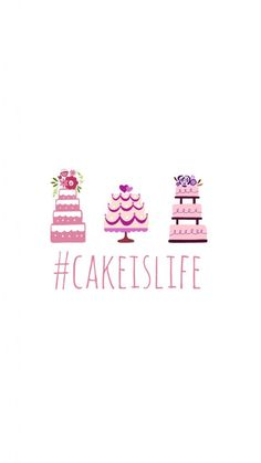 Preppy Original ★ Cake is Life iPhone Wallpaper Quote - Best of Wallpapers for Andriod and ios Baking Wallpaper, Food Wallpaper, Cute Wallpaper For Phone, Wallpaper Gallery, Wallpaper Quotes, Wallpaper Backgrounds, Pretty Backgrounds, Summer Wallpaper, Disney Wallpaper