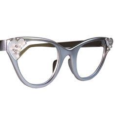 Matte Grey Tura Cat Eye Glasses. $155.00, via Etsy. dem accentsss