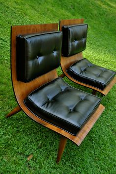Horizontal symmetrical balance is evident with virtually even size of bottom and back of chairs.