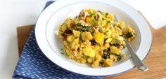 Marokkaanse couscous met courgette - Lekker en Simpel Veggie Recipes, Pasta Recipes, Whole Food Recipes, Vegetarian Recipes, Dinner Recipes, Healthy Recipes, Veggie Food, Vegetarian Cheese, Dinner Ideas