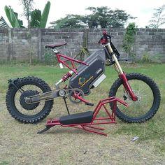 Electric Dirt Bike, Electric Bike Kits, Best Electric Bikes, Electric Mountain Bike, Motorcycle Design, Bicycle Design, Eletric Bike, Mini Motorbike, Bike Motor