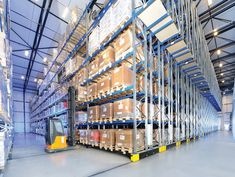 Learn how to design a better pallet storage system for freezer warehouses, doubling storage capacity while cutting lift truck maintenance expenses and labor costs dramatically. Warehouse Automation, Pallet Storage, Racking System, Lifted Trucks, Street View, Cold, Warehouses, Freezer