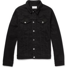 Frame Denim L'Homme Stretch-Denim Jacket ❤ liked on Polyvore featuring men's fashion, men's clothing, men's outerwear, men's jackets and frame denim
