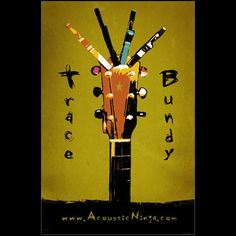 Trace Bundy - Poster - Guitar with Capos Acoustic, Ninja, Poster Prints, Guitar, Paper, Ninjas, Guitars