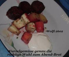 """Rezept: Gemüse : Ofengebackenes Gemüse """"Pastinake, Karotte, Rote Beete, Kartoffel"""" Vegetarisch"""