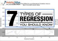 This article explain the most common used 7 regression analysis techniques for predictive modelling. Lasso, Ridge, Logistic, Linear regression