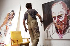 saw Quilty's exhibition this weekend - was amazing Artist Life, Artist Art, Artist At Work, Contemporary Australian Artists, Australian Painting, Inside Art, Process Art, Creative Studio, Portrait Art