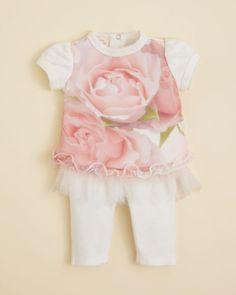 Biscotti Infant Girls' Rosy Cheeks Top & Tutu Leggings - Sizes Newborn-9 Months