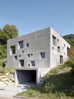 a füllinsdorf bl 2015 Minimalist Architecture, Facade Architecture, Residential Architecture, Amazing Architecture, Contemporary Architecture, Small Buildings, Brick And Stone, Stone Houses, Facade House