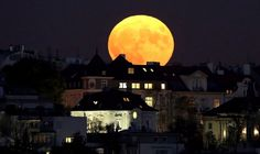 From Prague to Kuwait City to Washington, see incredible shots of the 'supermoon'—the closest the moon has been to the Earth since Nasa, Supermoon Photos, Glastonbury Tor, Foto E Video, Photo And Video, Moon Rise, Super Moon, Dark Skies, Milky Way