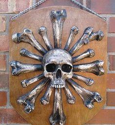 Hand Made Cannibal Shield from Catacomb Emporium http://bugwriter.wix.com/catacombemporium
