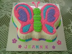 butterfly birthday cake template printable - Google Search | Cake ...