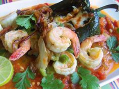 Chile Relleno with Serrano Shrimp