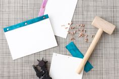 10 Minute DIY: How To Make Leather Bound Notepads | Paper and Stitch