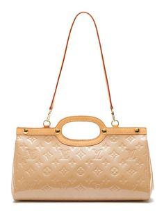 Louis Vuitton Beige Vernis Roxbury Drive Bag