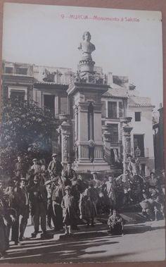 Pza Sta. Eulalia Murcia Murcia, Spain, Santa, Antiques, Movie Posters, 19th Century, Antique Photos, Black And White, Cities