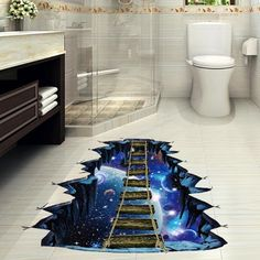 3D Flooring Wallpapers Removable PVC Self Adhesive Wallpapers Bridge Photo Wall Papers Stickers Home Decor for Kids Living Room    - AliExpress Floor Decal, Floor Stickers, Wall Decor Stickers, Wall Decals, Floor Murals, Wall Art, Kids Living Rooms, Home Living Room, Living Room Decor