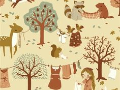 Birch Organics - Acorn Trail - Laundry Day   buy in-store and online from Ray Stitch.