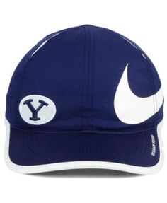 Nike Brigham Young Cougars Big Swoosh Adjustable Cap - Navy/White Adjustable
