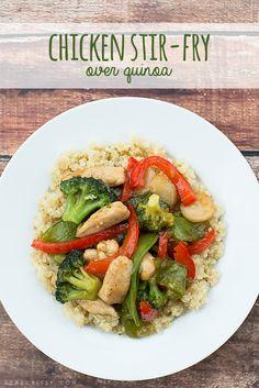 Chicken stir-fry over quinoa - Dear Crissy