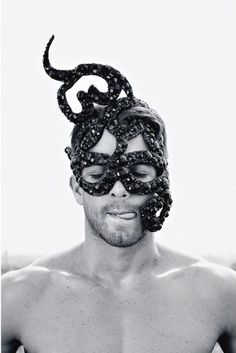 Men's serpent head piece and mask. The Goblin Ball - Sat 22nd June 2013, Melbourne, Australia. #WOWpeopleandfaces