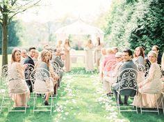 Outdoor ceremony set