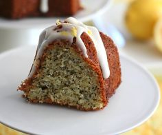 Low carb! Lemon poppyseed bundt cake.