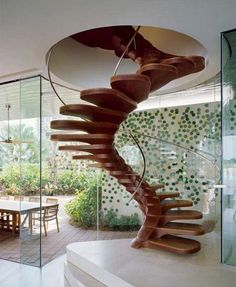Spiral staircase. Most unique.