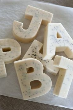 Vanilla & Poppy Seed Letter Soap from Jonny's Sister