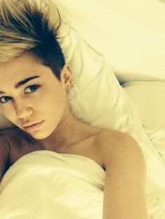 Miley Cyrus Pictures in Bed After Birthday Party