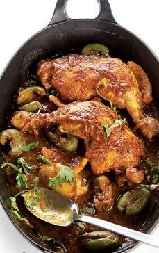 Djaj Mqualli (Chicken, Olive, and Lemon Tagine)