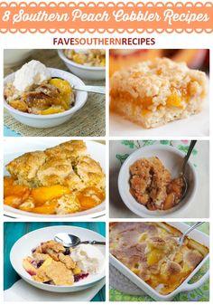 8 Southern Peach Cobbler Recipes | FaveSouthernRecipes.com