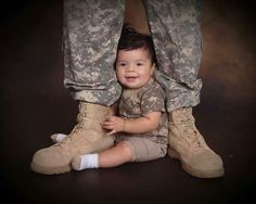 Unique military/baby photo